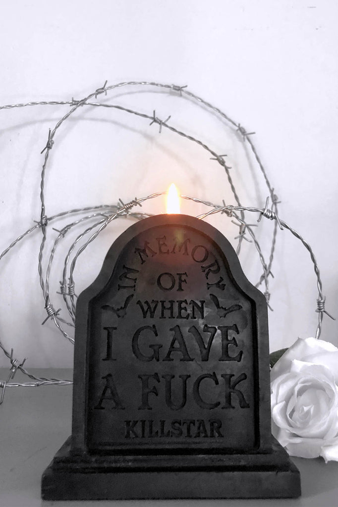 In Memory Tombstone Candle [B]