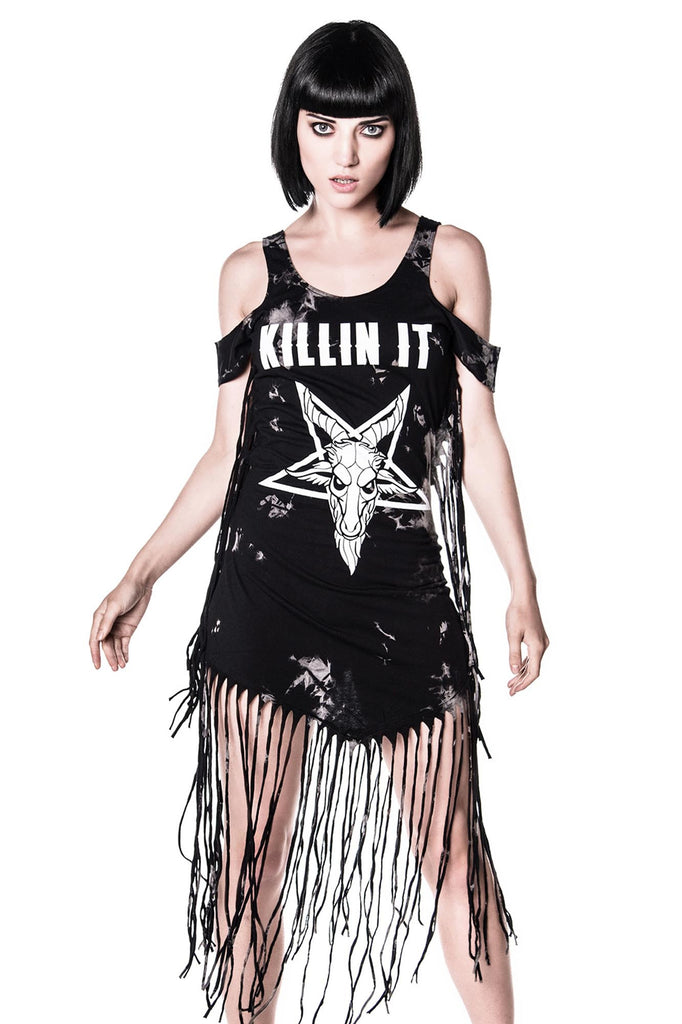 Killin' It On The Fringe Dress [TIEDYE]