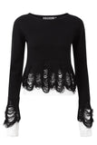 Lestat Crop Knit Sweater [B]