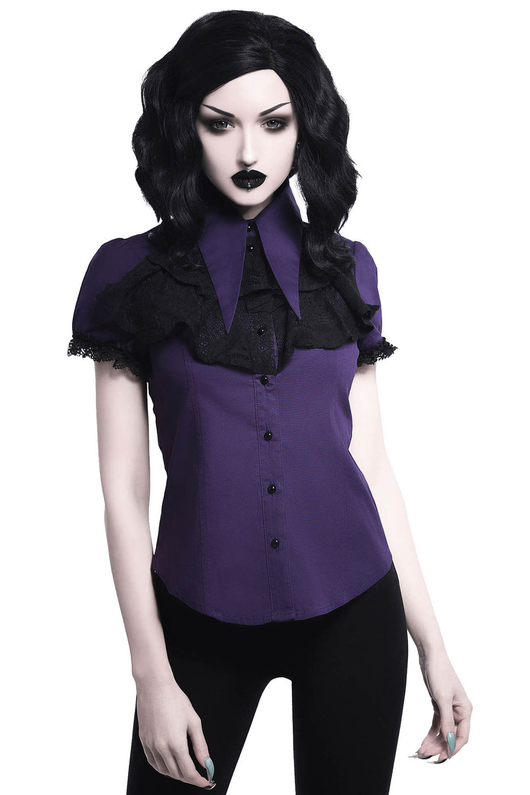 Meave Ruffle Blouse [PLUM]