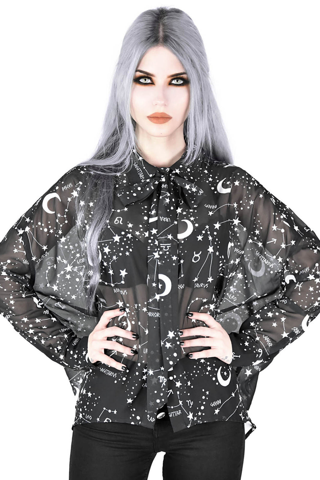 Milky Way Chiffon Shirt