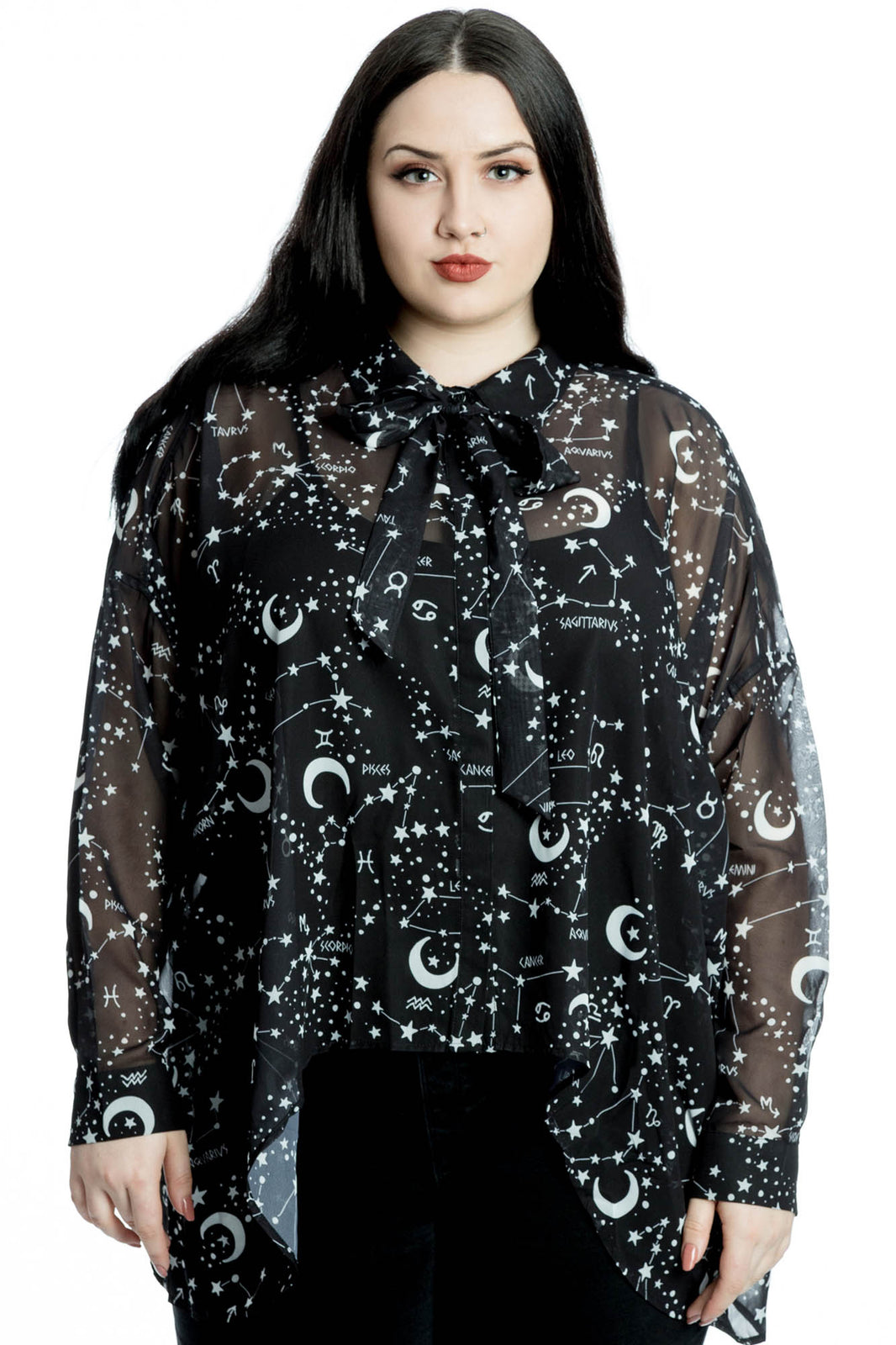 Milky Way Chiffon Shirt [PLUS]