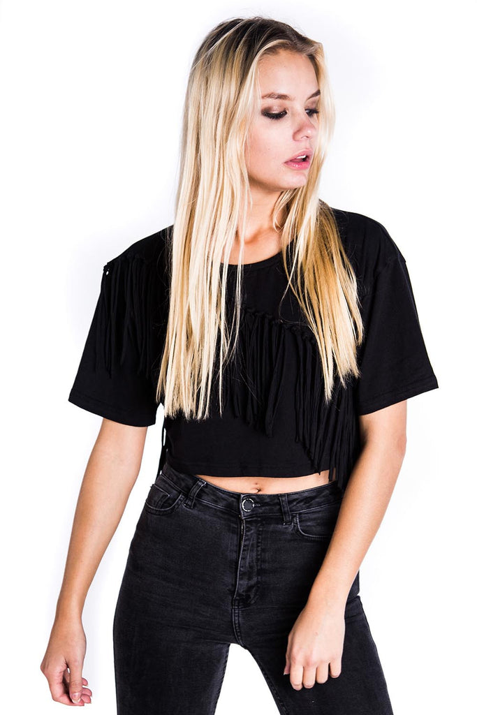 Mona Fringe Crop Top [B]