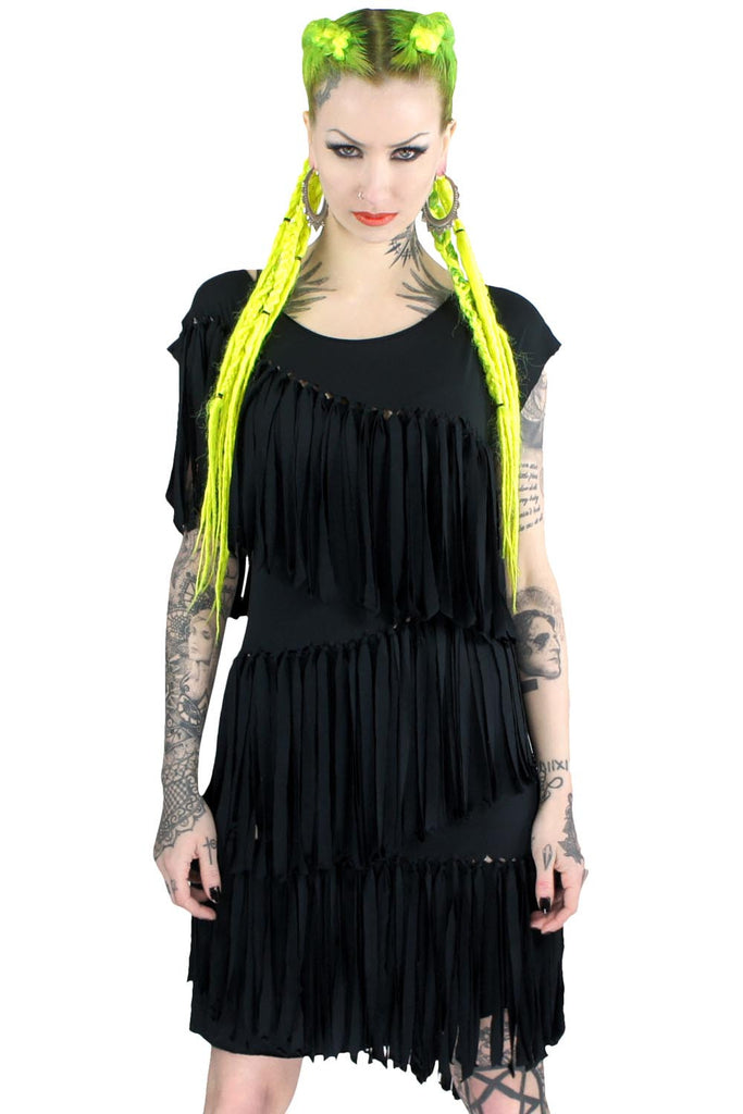 Mona Fringe Tunic Dress [B]