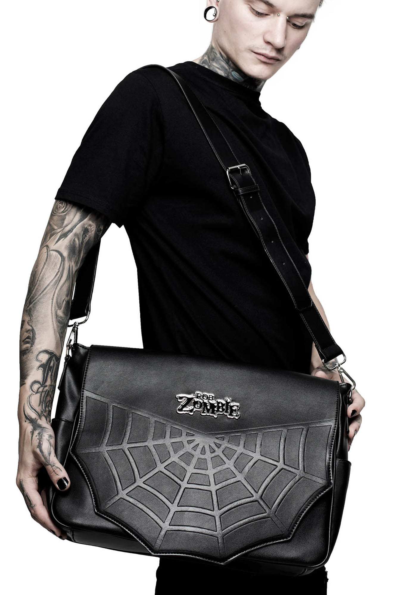 2bb6501966a9 Monster Deluxe Messenger Bag. Double tap to zoom