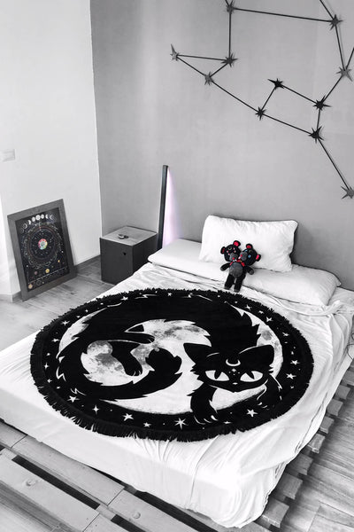 Moon Kitty Blanket