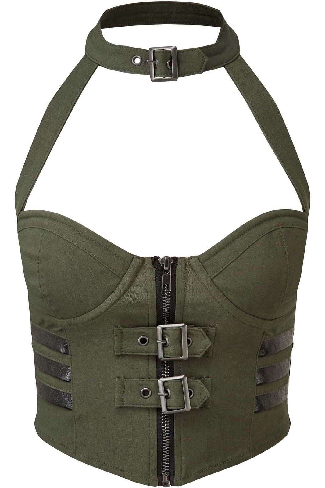 Night Patrol Halter Top [KHAKI]