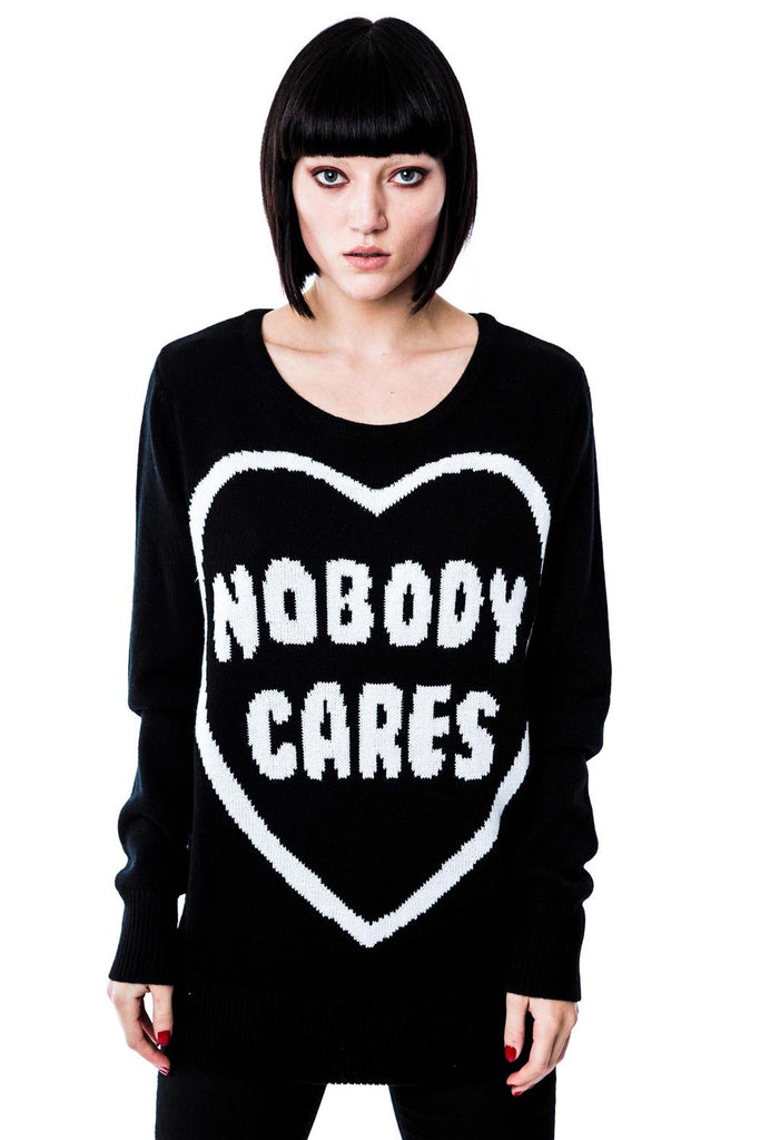 Nobody Cares Knit Sweater [B]