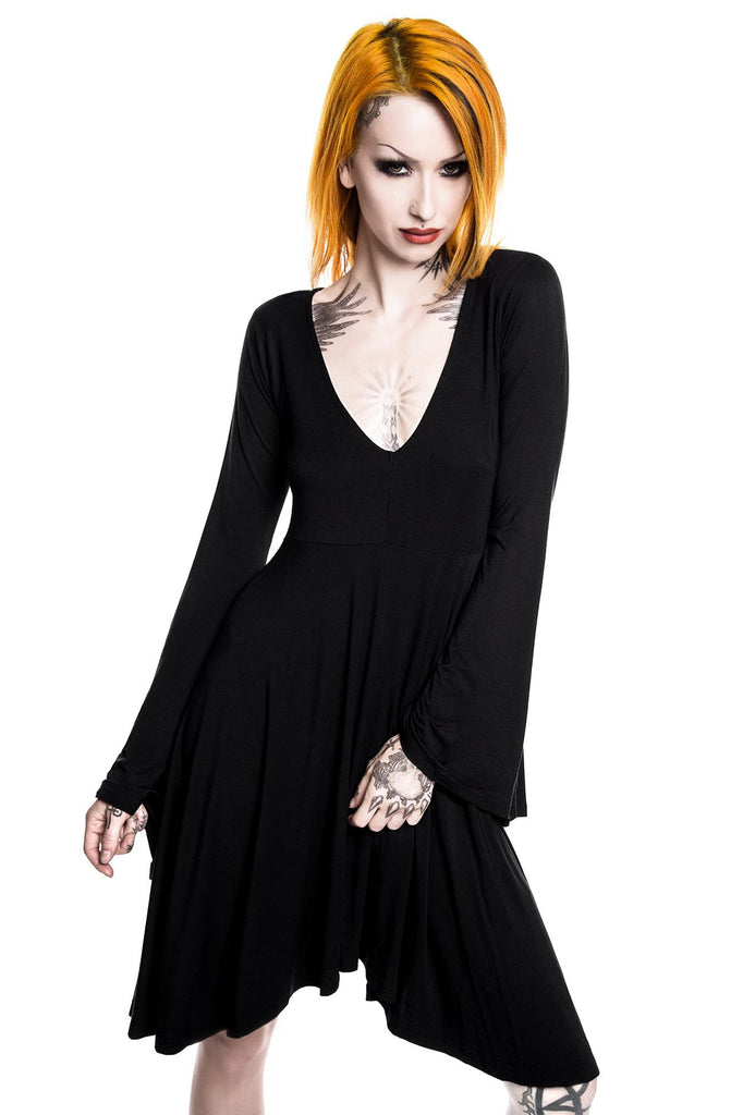 Nocturne Fallen Angel Sleeve Dress [B]
