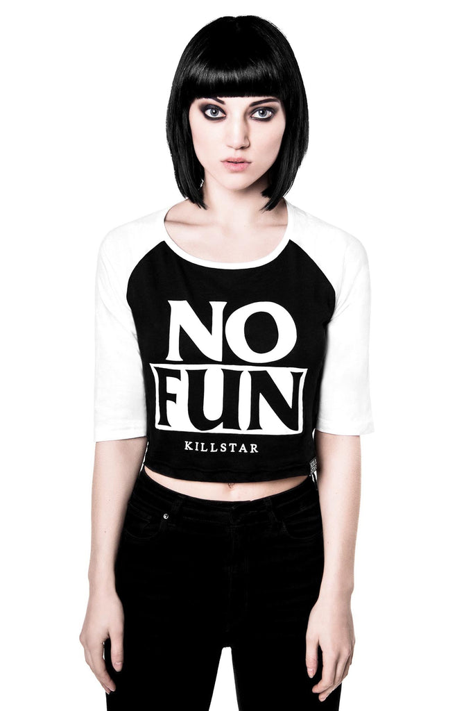 No Fun Crop Raglan [B]