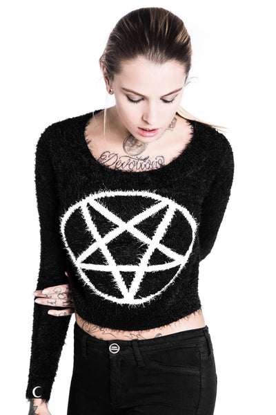 Pentagram Crop Sweater [B]