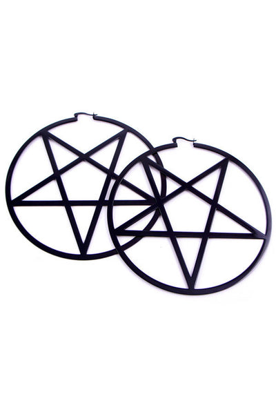 Pentagram Hoop Earrings [B]