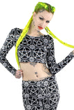 Pentagram Velvet Crop Top [B]
