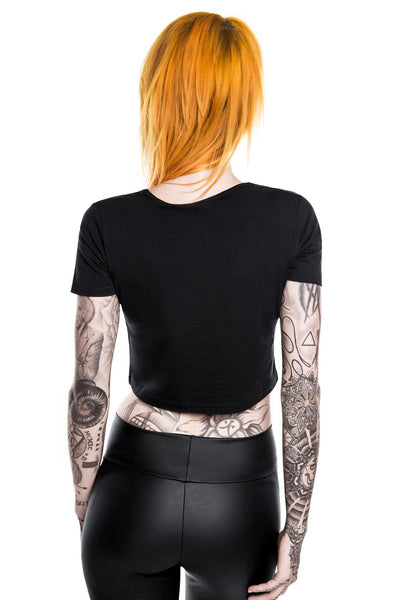 Piss Off Scoop Neck Crop Top [B]