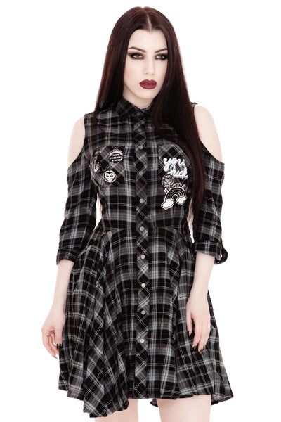 Polly Woven Shirt-Dress [B]