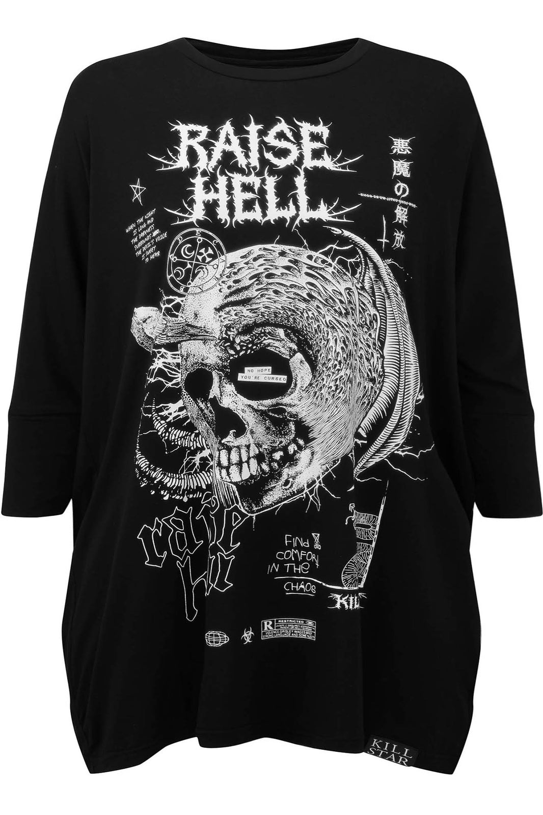 Raise Hell Raglan Tunic [PLUS]