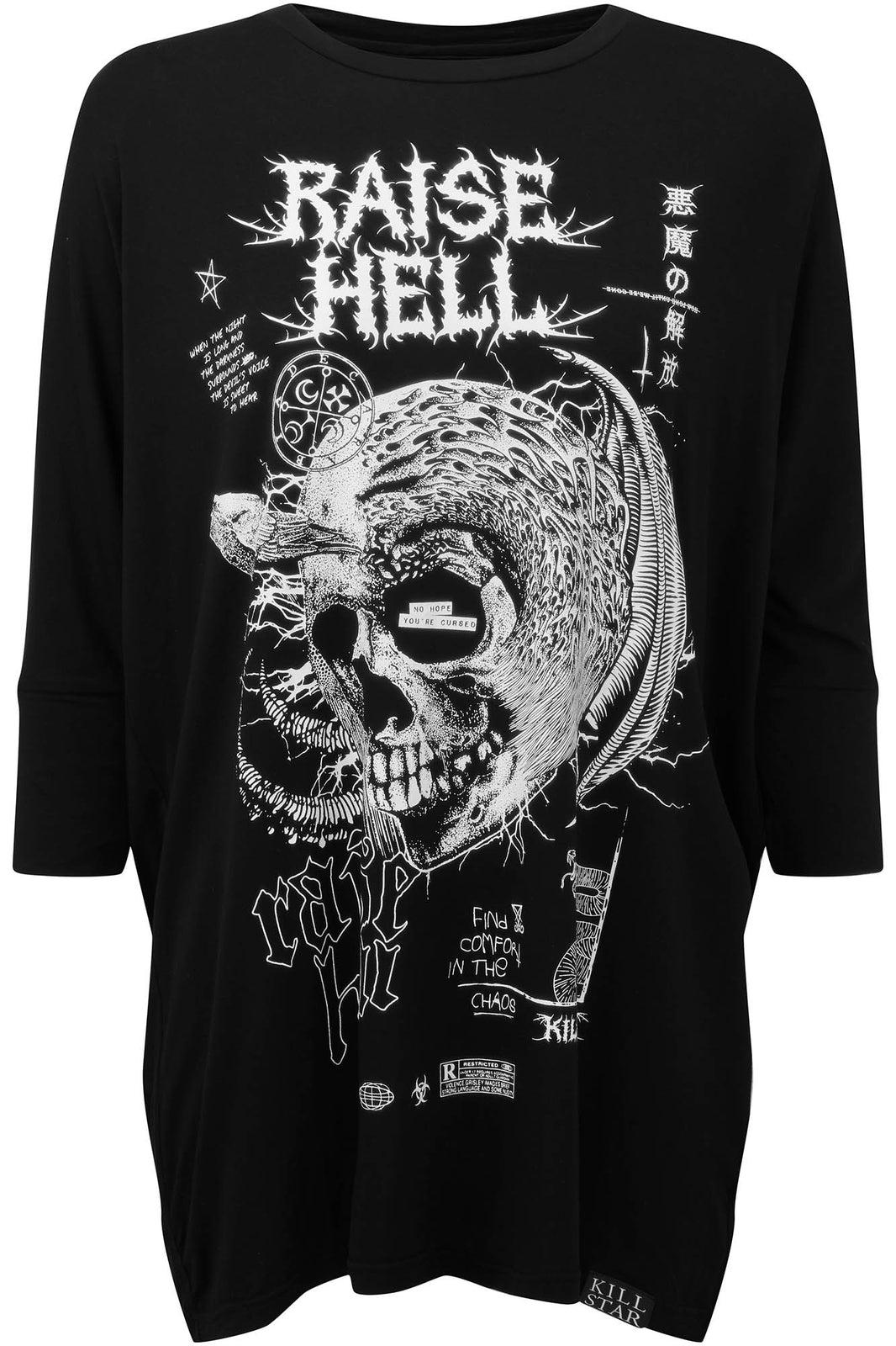 Raise Hell Raglan Tunic