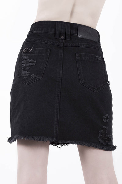 Rawked Out Denim Skirt [B]
