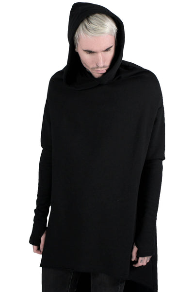 Man Wearing Cotton Gothic Ritual Hoodie in Black from KILLSTAR