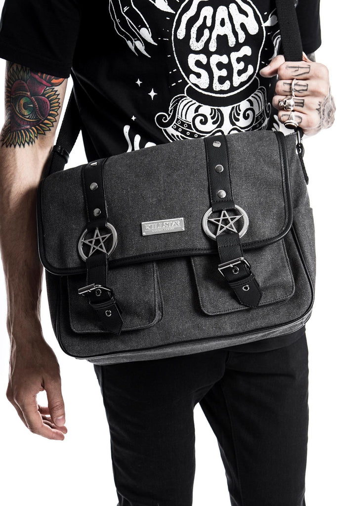 ritual ring pentagram canvas bag from killstar