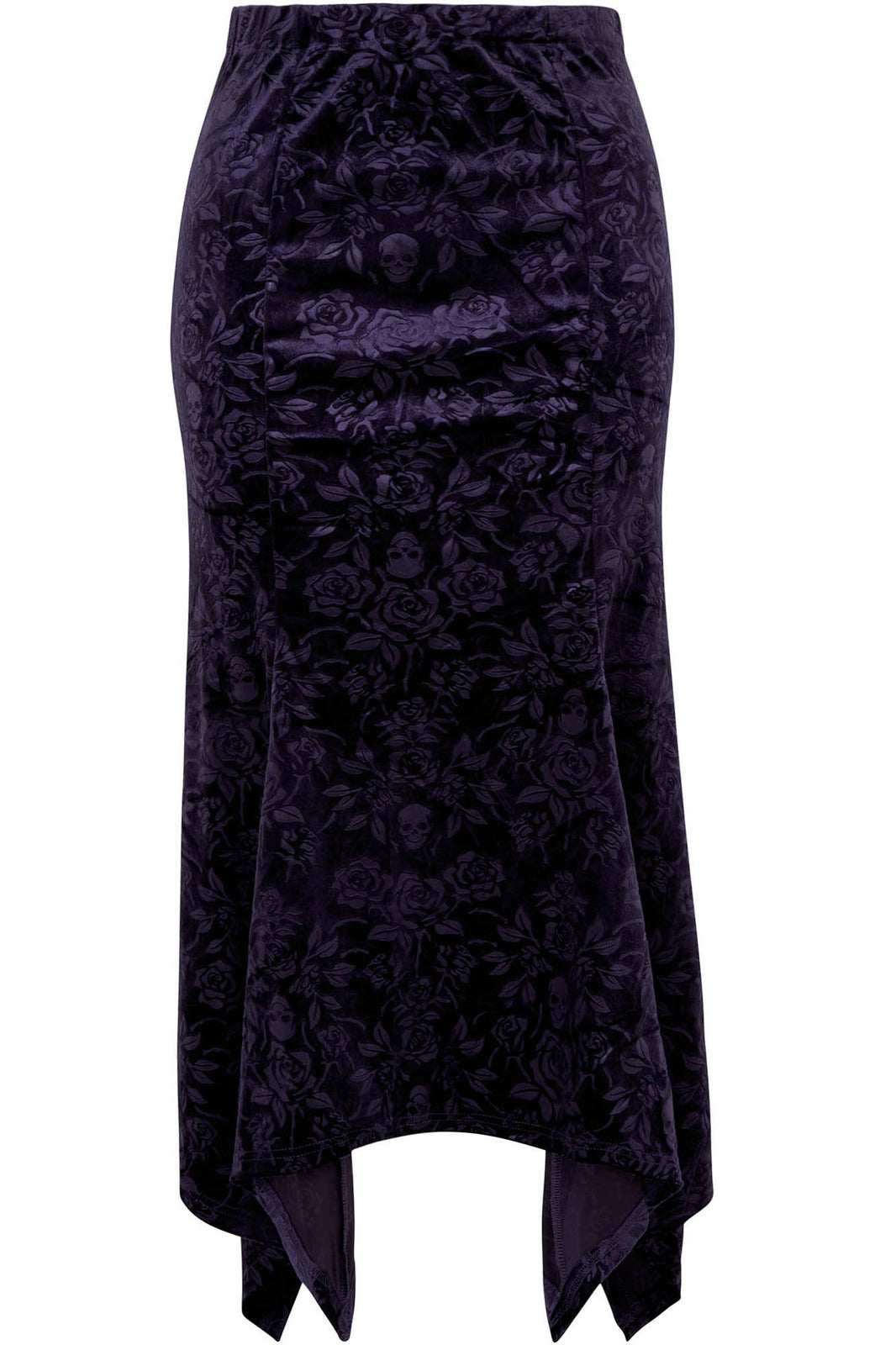 Roses Are Dead Velvet Maxi Skirt [PLUM] [PLUS]