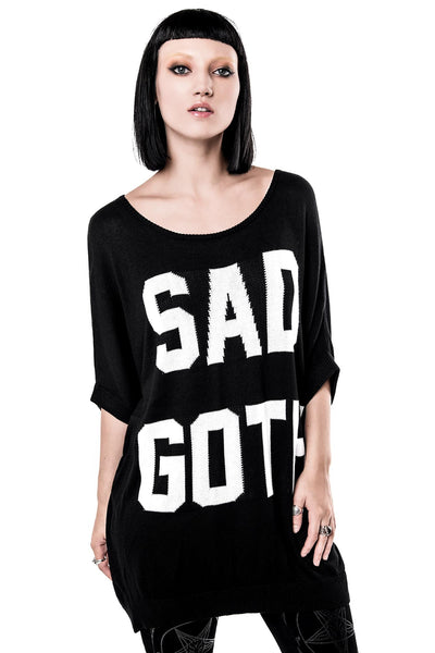 Sad Goth Batwing Knit Top [B]