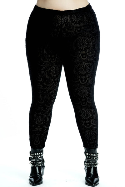 Saiph Burnout Velvet Leggings [PLUS]