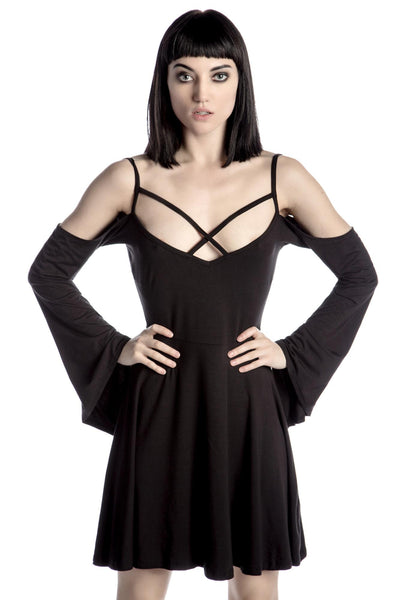 Séance Angel Sleeve Skater Dress [B]