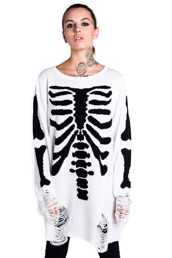 Skeletor Knit Sweater [SNOW]