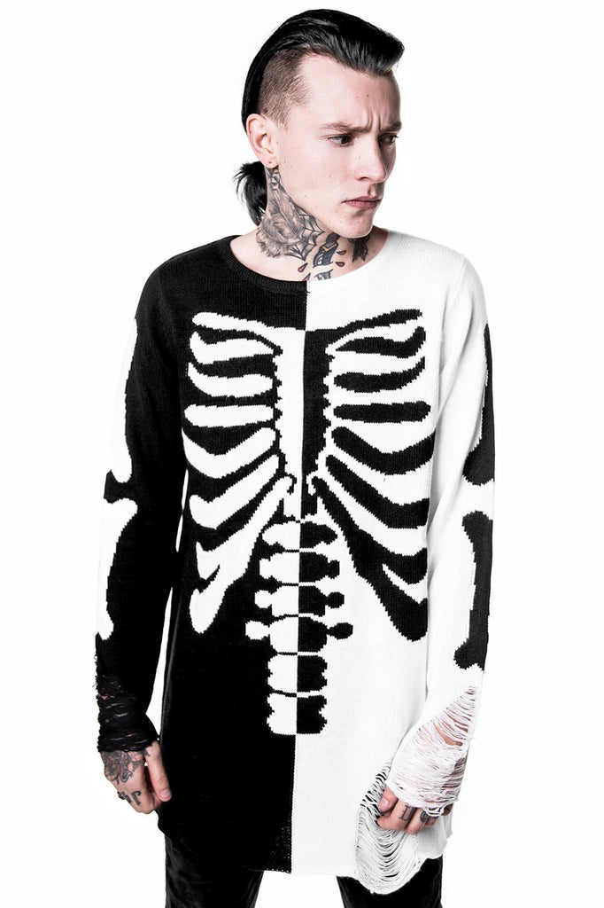 Skeletor Split Knit Sweater [B]