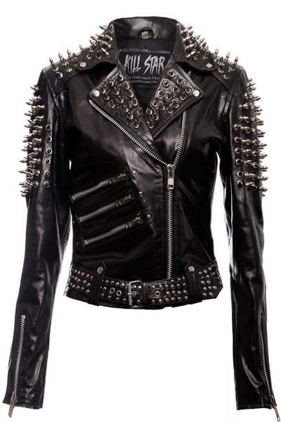Spike Leather Jacket [VEGAN]