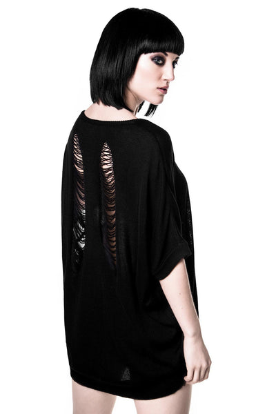 Stray Batwing Knit Top [B]