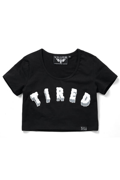 Tired Scoop Neck Crop Top [B]