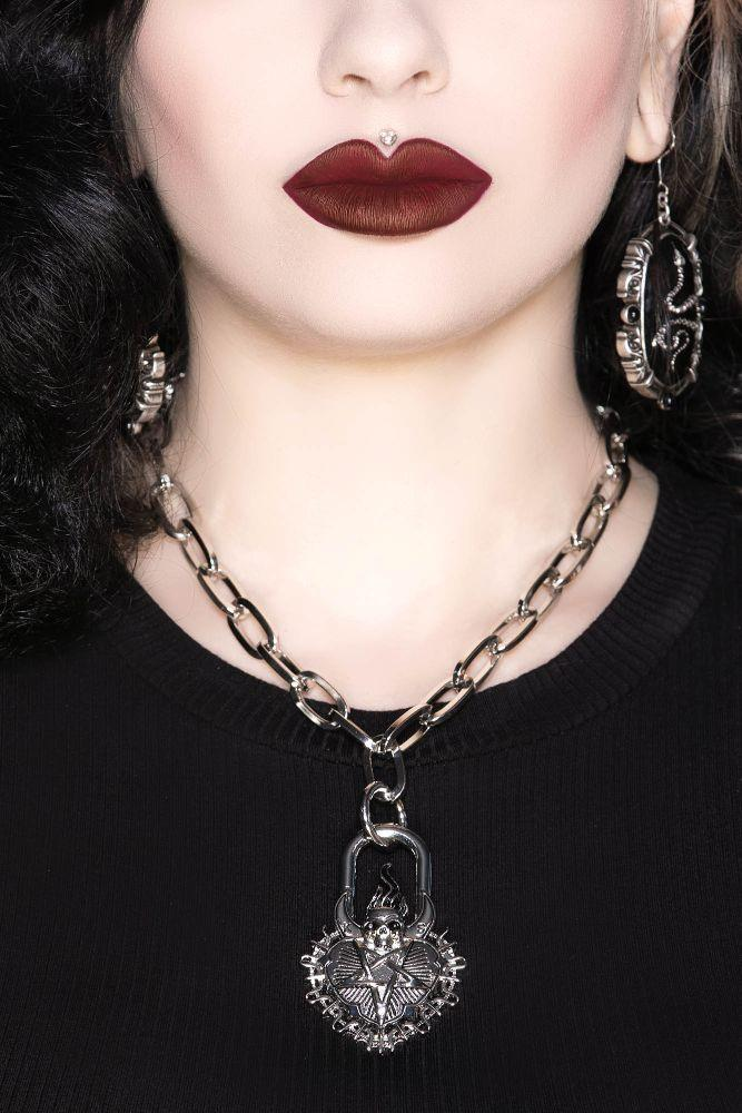 Unsacred Heart Chain Necklace