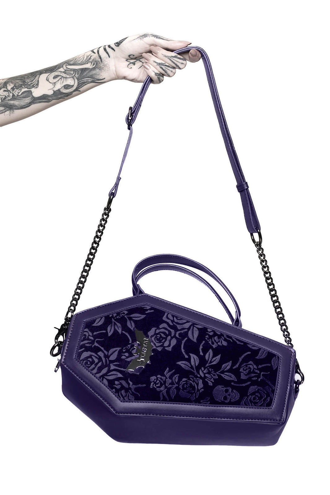 Vampire's Kiss Coffin Handbag [PLUM]