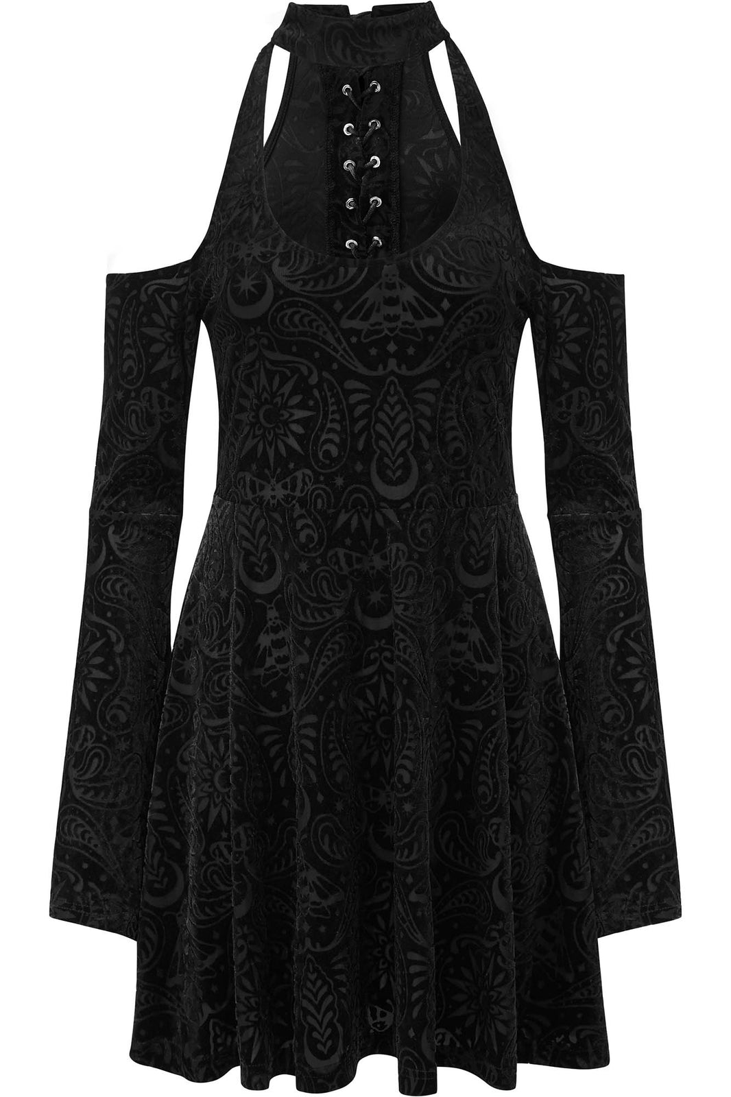 Vela Burnout Velvet Dress [B]