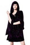 Velvet Witch Hood Dress [VIOLET]
