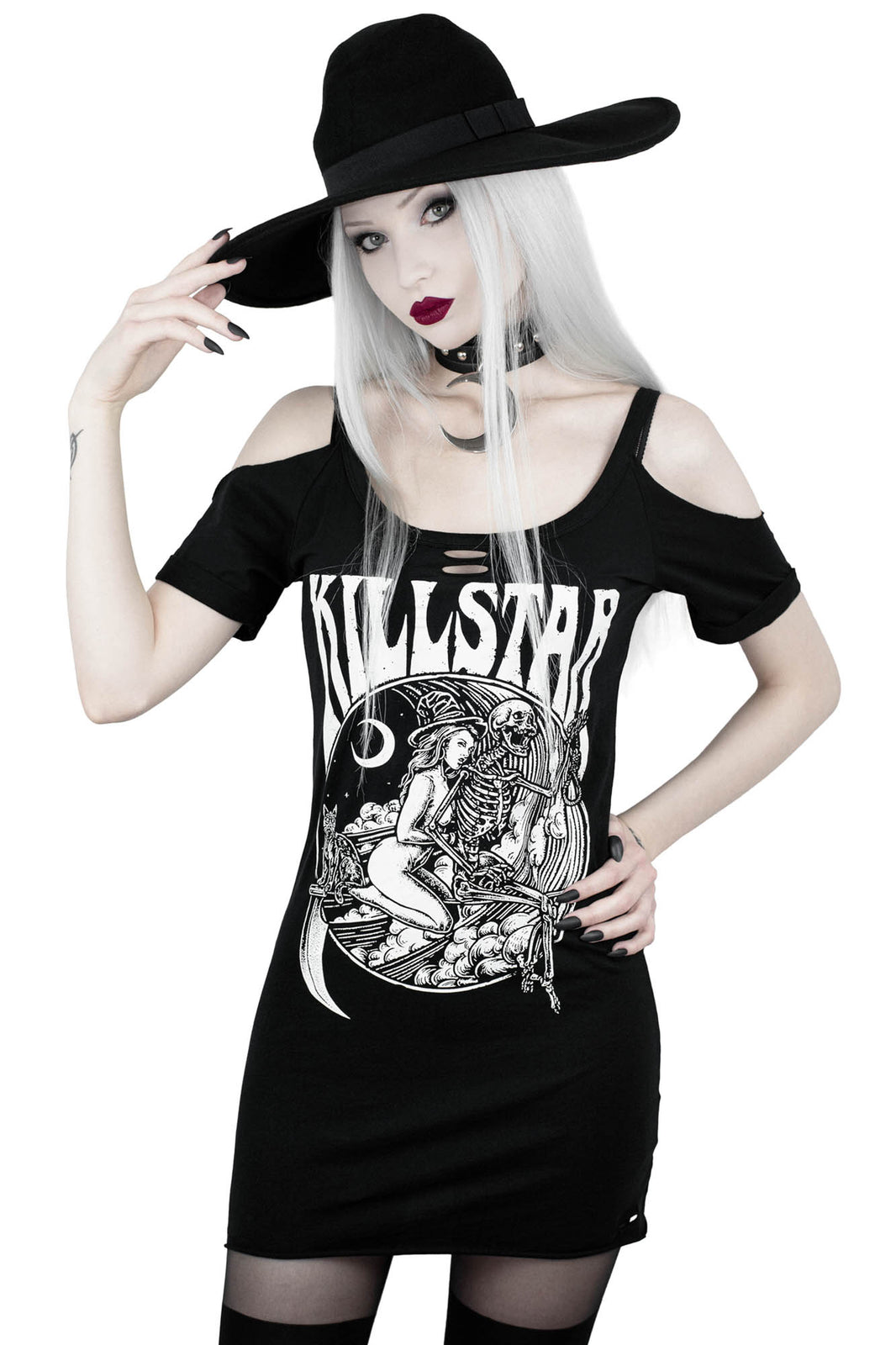 Witches On Tour Distressed Top