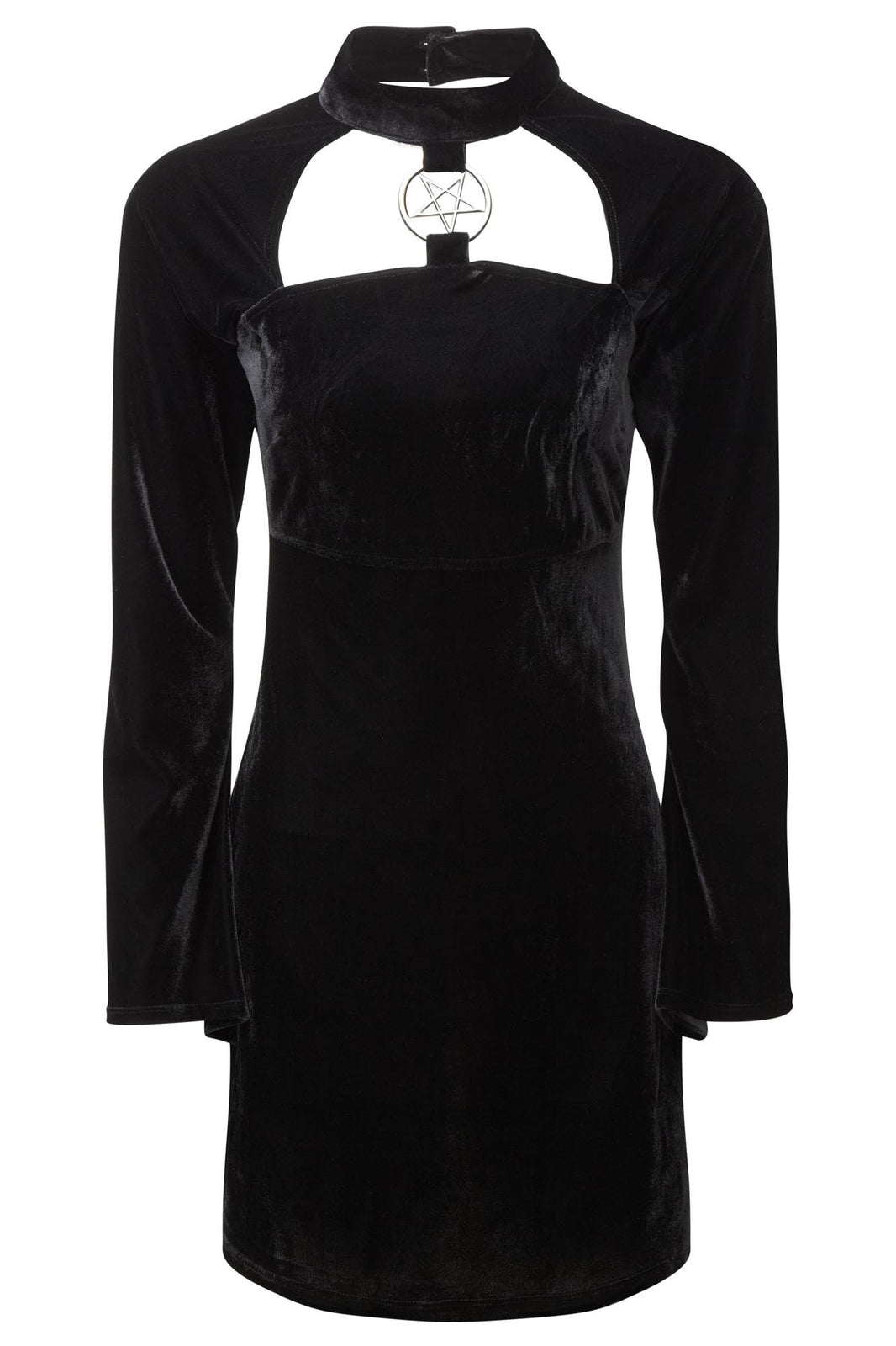 Ziva She's Evil Black Velvet Dress | Goth Dress