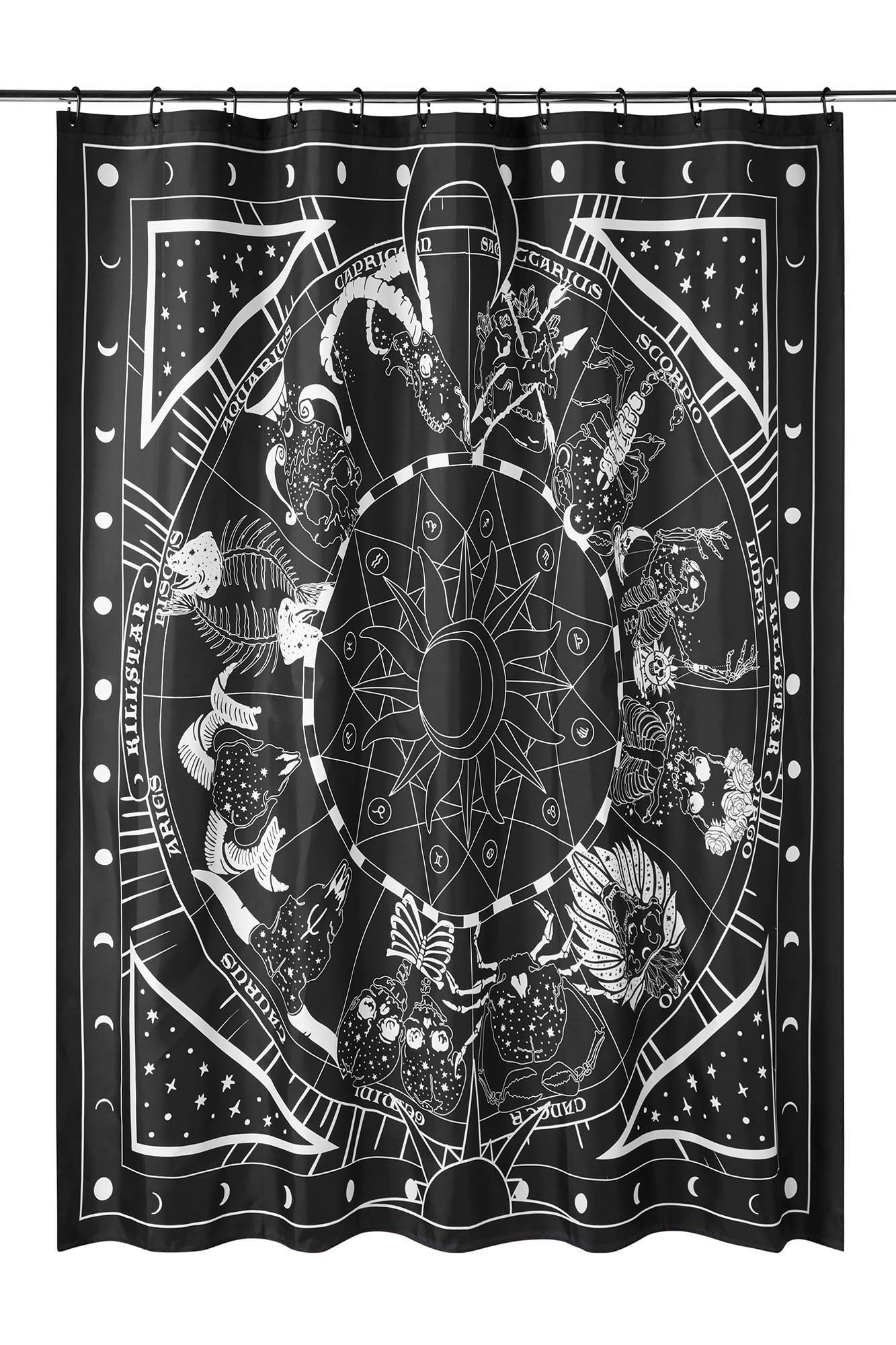 Zodiac Shower Curtain B Double Tap To Zoom