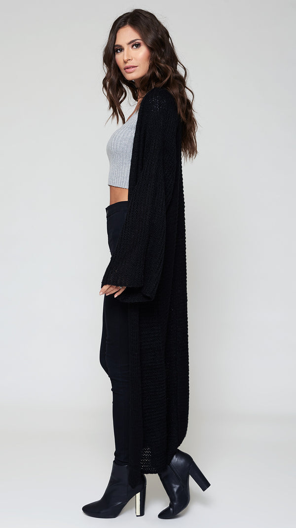 Long Wide Sleeve Cardigan