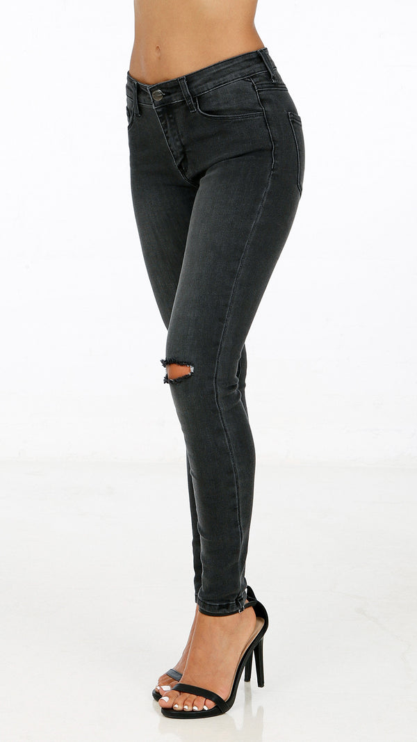 Split Knee Skinny Pants
