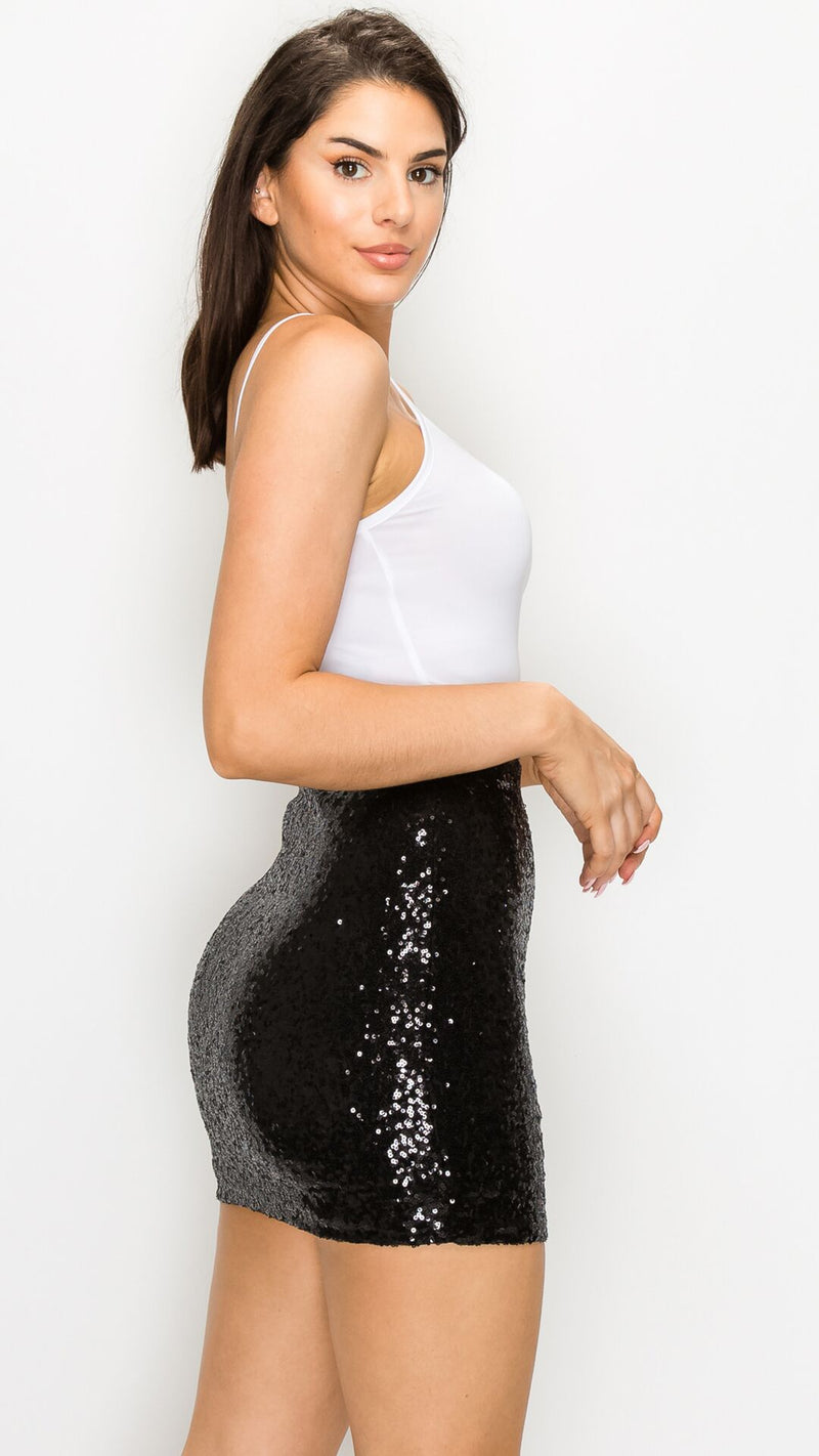 Party Sequin Mini Skirt