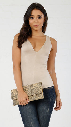 Deep V Cut Front & Back Tank