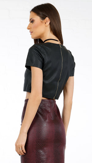 Leather Me Crop Top