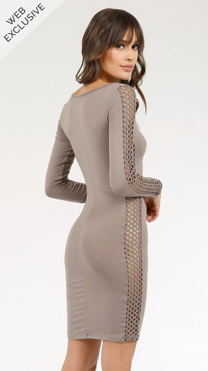 Diamond Crochet Inset Dress - ANGL