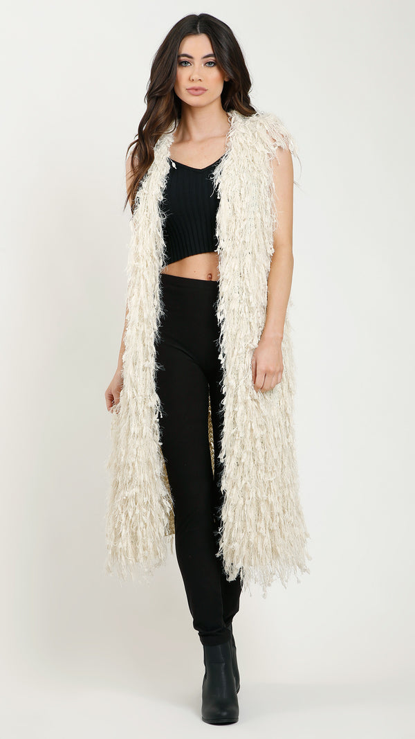 Long Shaggy Vest