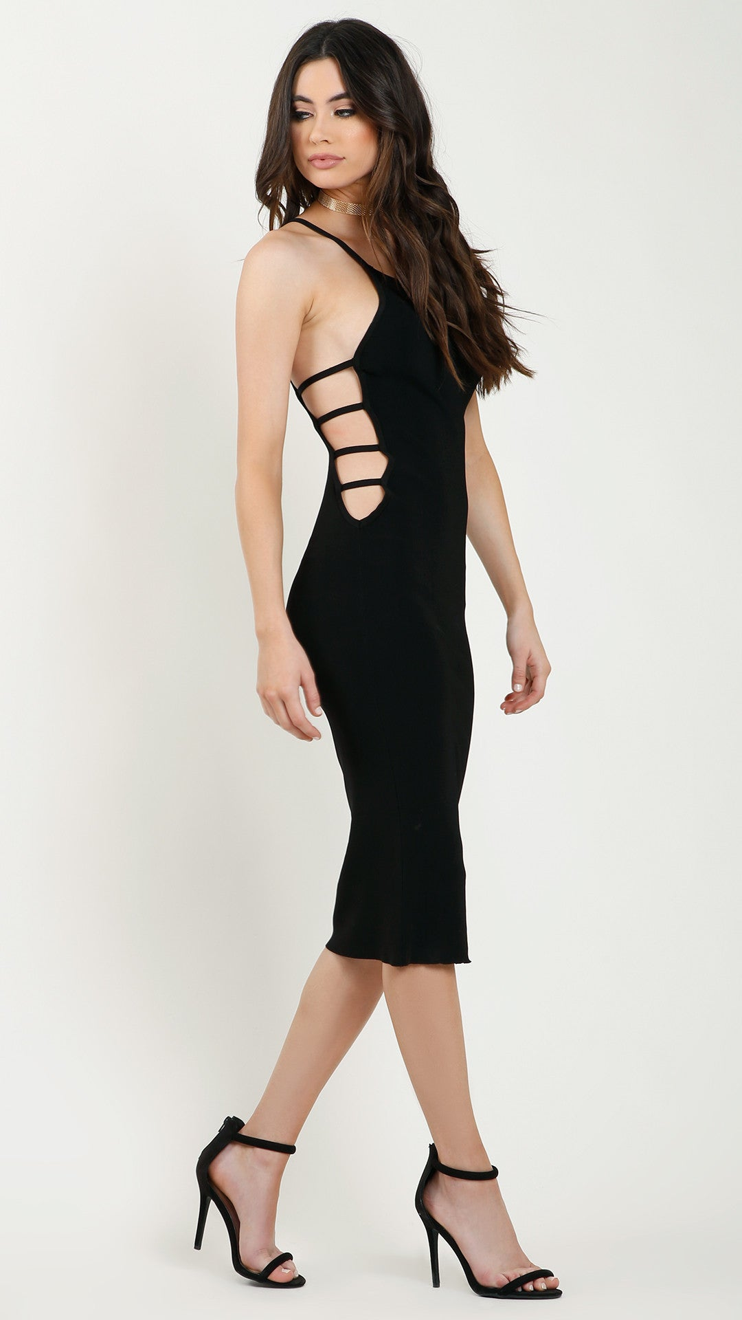 a29306a082 Sexy Ladder Side Cutout Pencil Dress - ANGL