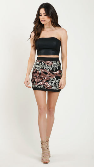 Bangkok Sequin Mini Skirt