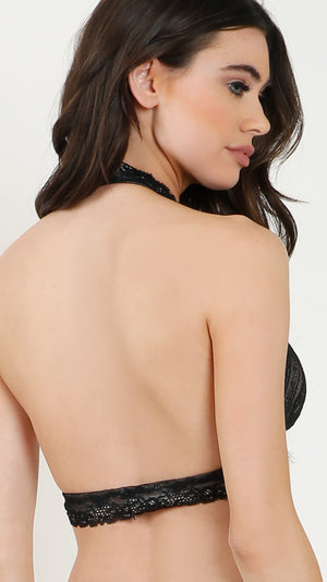 High Neck Halter Bra